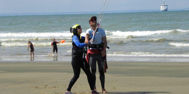 Initiation au Kite Surf,face à l'Angleterre