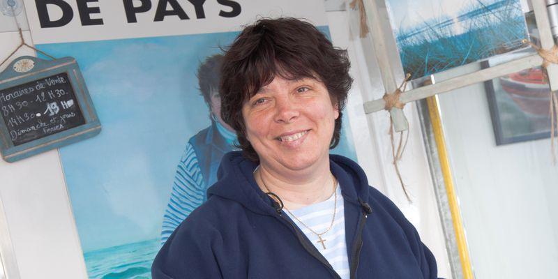 Le marché aux poissons, Myriam Pont pêcheuse à pied de moules