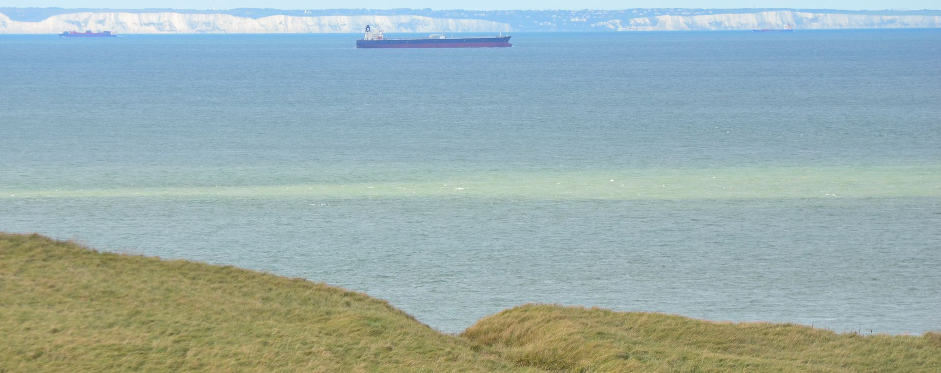 Dover White cliffs seen from Sangatte near Calais