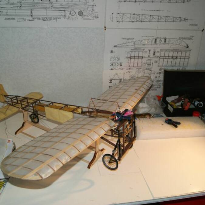 Maquette de l'avion de Louis Blériot